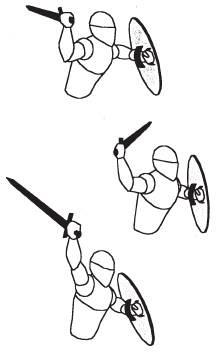 Основным назначением стойки с мечом и щитом является атака.