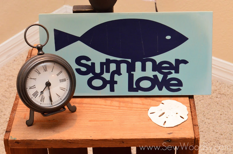 """Summer of Love"" Vinyl Sign from SewWoodsy.com"