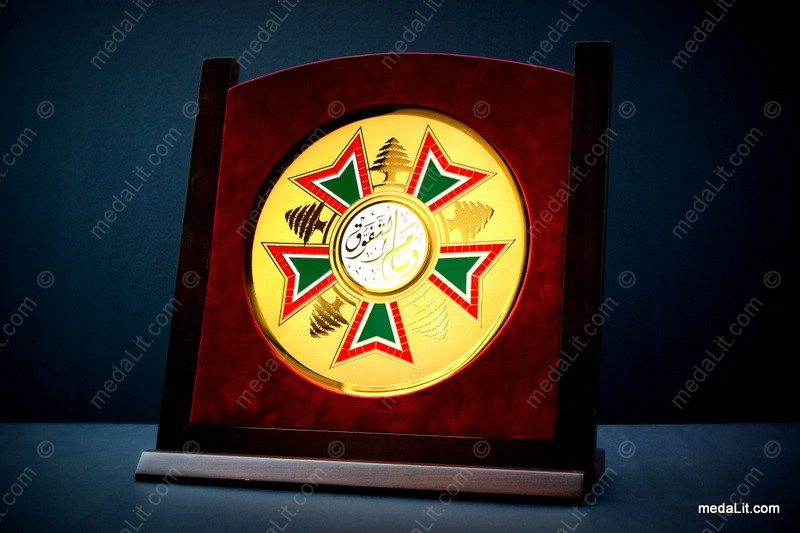 Luxury Medallion. Supersized medallion plaque. Gold-plated brass. Personlaized engraving.