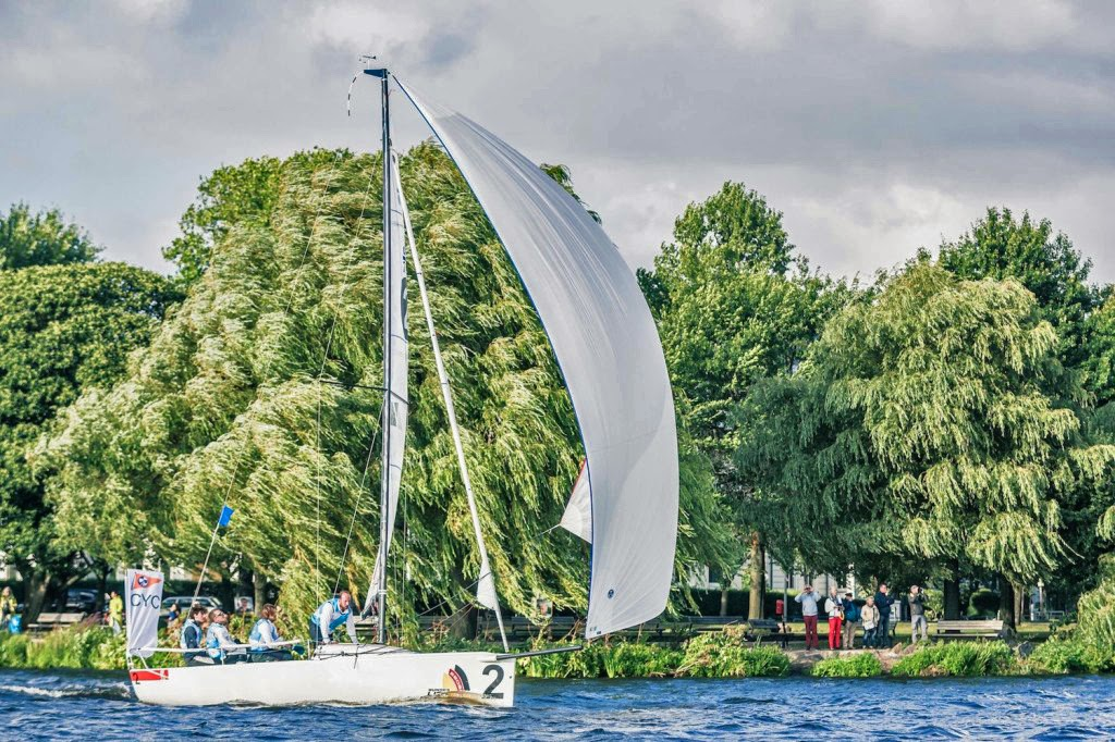 J/70s sailing on Wansee in Berlin, Germany