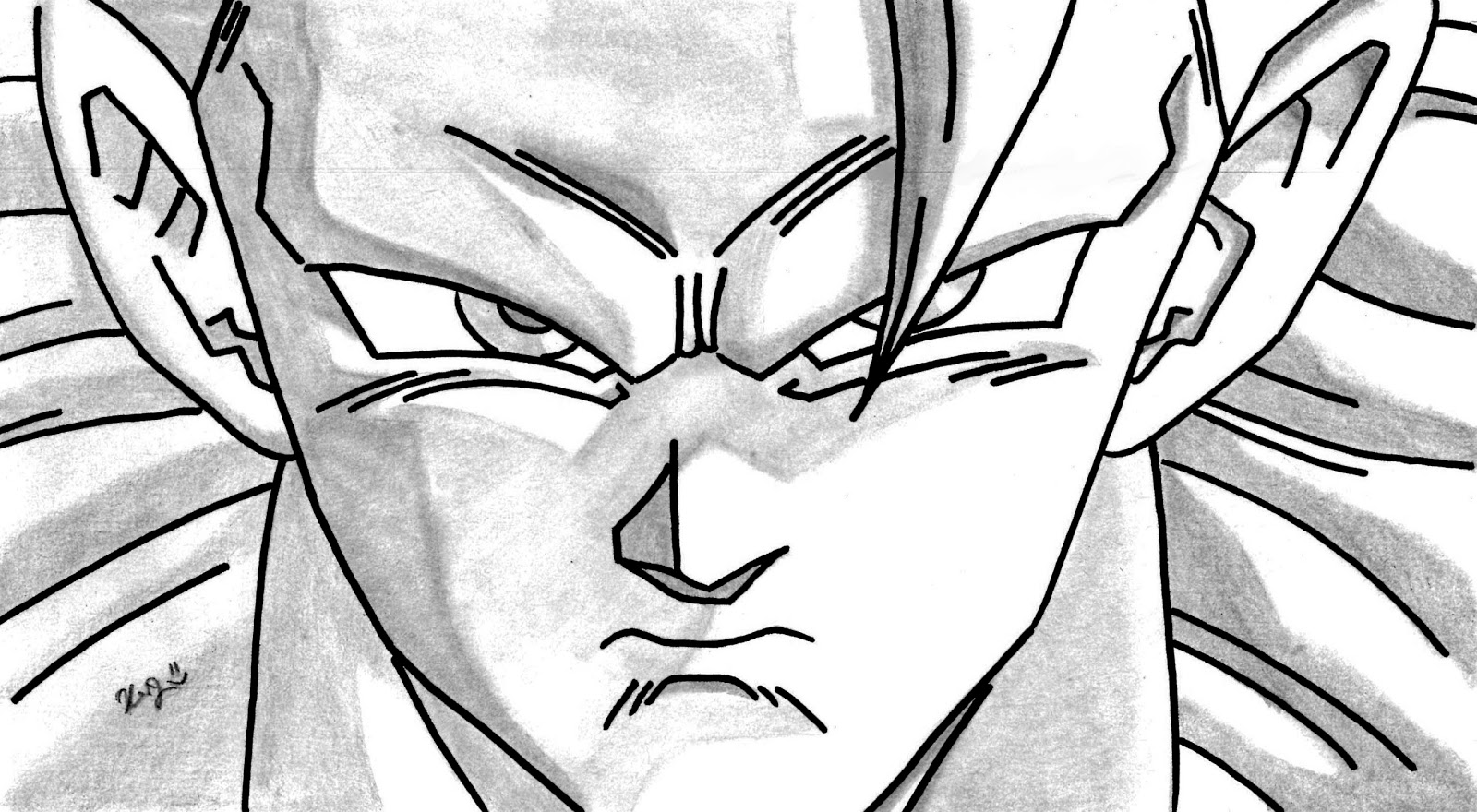 imagenesde99: imagenes de goku para dibujar a lapiz faciles