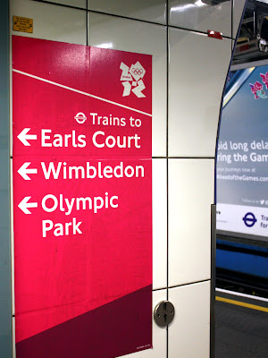 Olympics sign in the London Underground