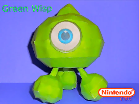 Sonic Colors Green Wisp Papercraft