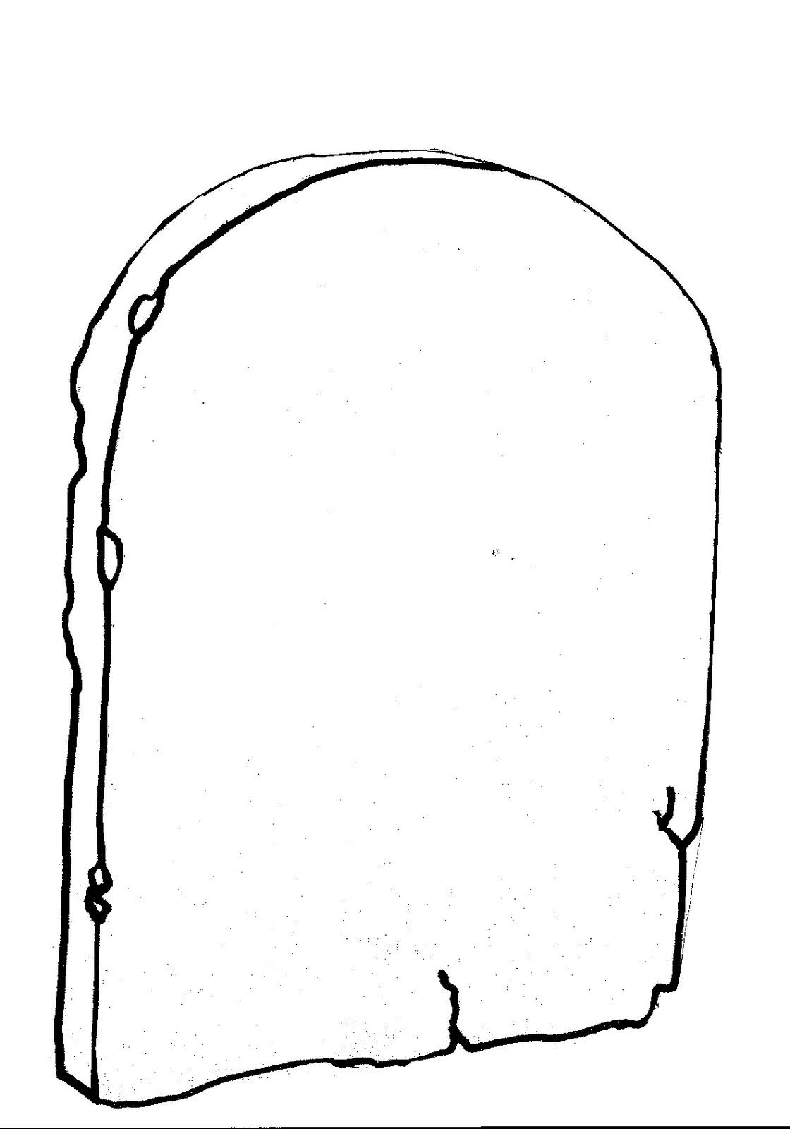 Catequesis guadalupana los 10 mandamientos for Dibujo de una piedra para colorear