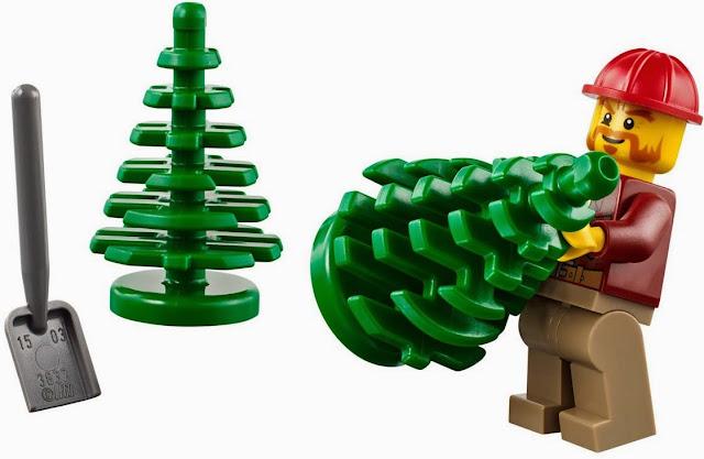 Bác công nhân hăng say lao động trong bộ xếp hình Lego City 60059 Logging Truck