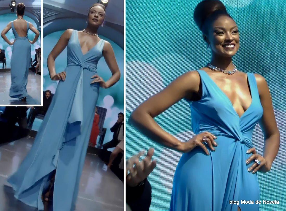 moda da novela Império - look da Juju Popular com vestido festa dia 19 de setembro