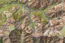 Carte du massif de Bonifatu avec le tracé du parcours de la boucle du Penne Rosse
