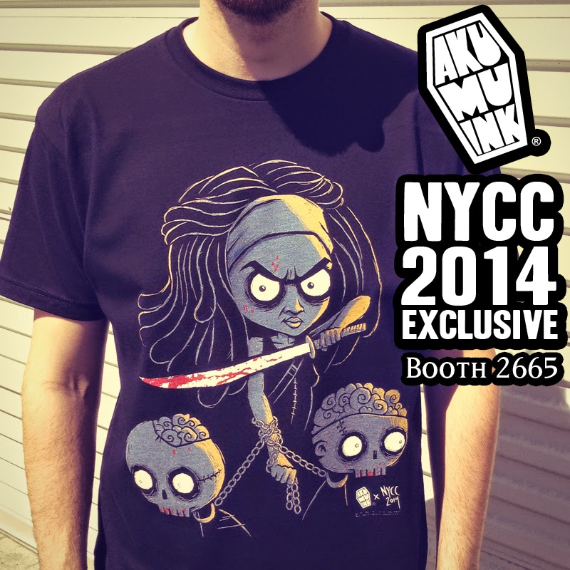 walking dead fanart, walking dead fan shirt, nycc exclusive, comiccon exclusive, akumuink exclusive