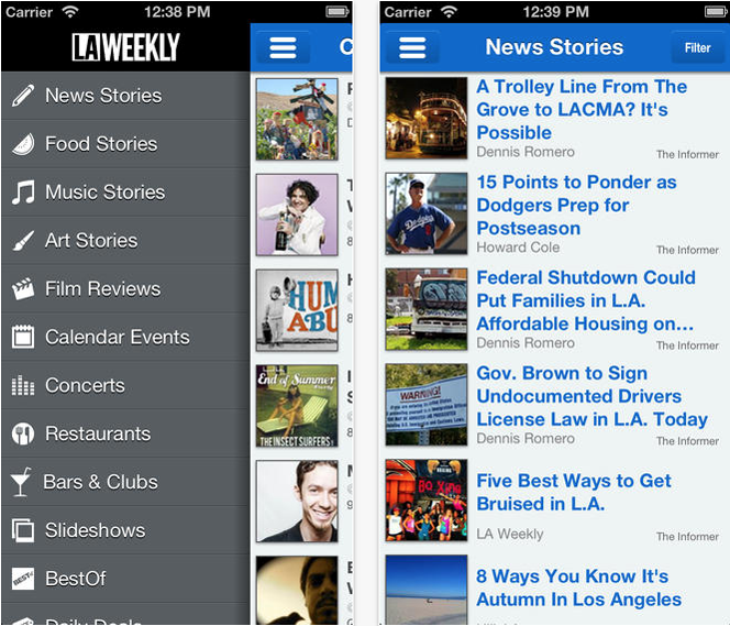 LA Weekly App (Helpful Apps for Living in Los Angeles).