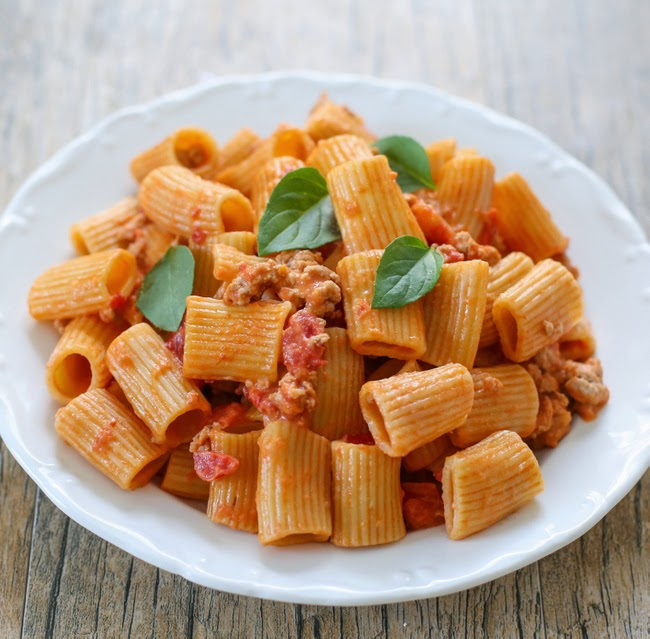 photo of a plate of One Pot Creamy Tomato Pasta