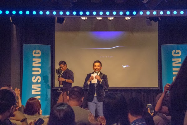Melvin Aeria emcee Samsung GALAXY Unpacked 2015 Live Streaming Party