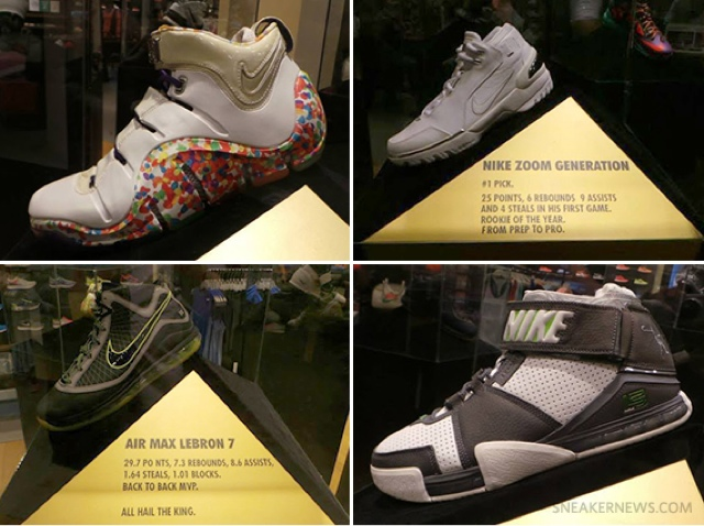 "c1a1b5f0c02 Nike LeBron PE Display for ""Witness History"" Tour"