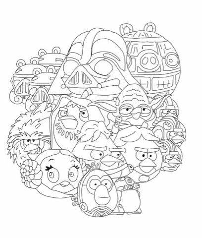 angrybird starwars coloring pages - photo#14