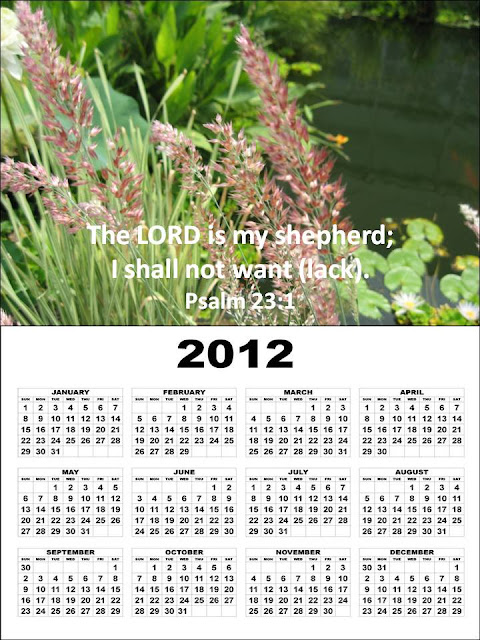 yearly calendar 2012 printable. Free Printable Christian 2012
