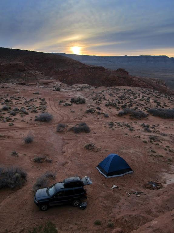 Sunrise at camp on Saturday