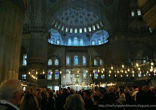 Chandelier Interiors of Mosque
