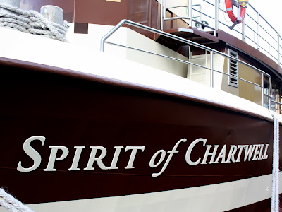 The Spirit of Chartwell, the Queen's Diamond Jubilee barge in London