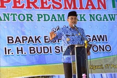 Bupati Ngawi resmikan IKK PDAM