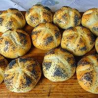 bułki kajzerki z mąk mieszanych