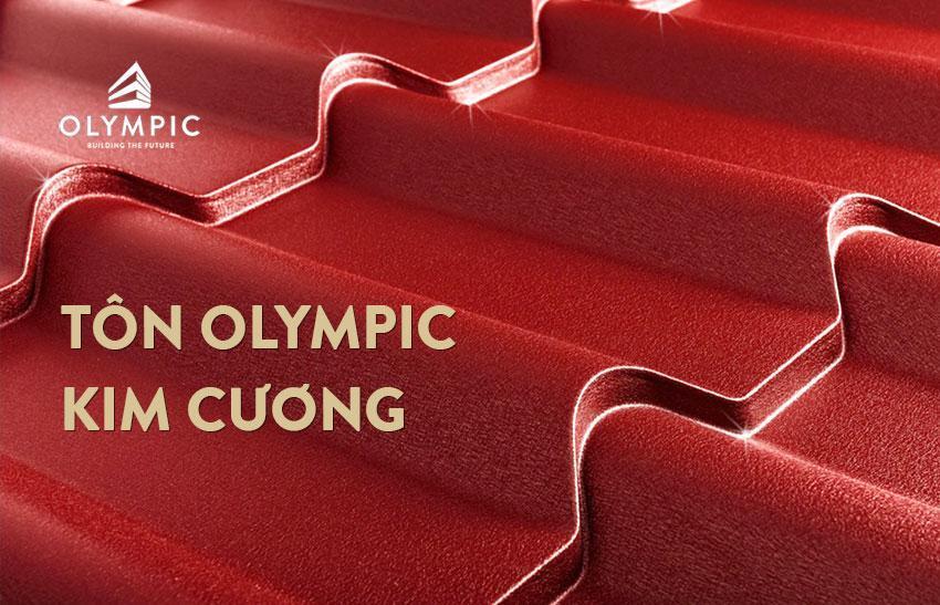 Tôn giả ngói Olympic màu đỏ kim cương sang trọng