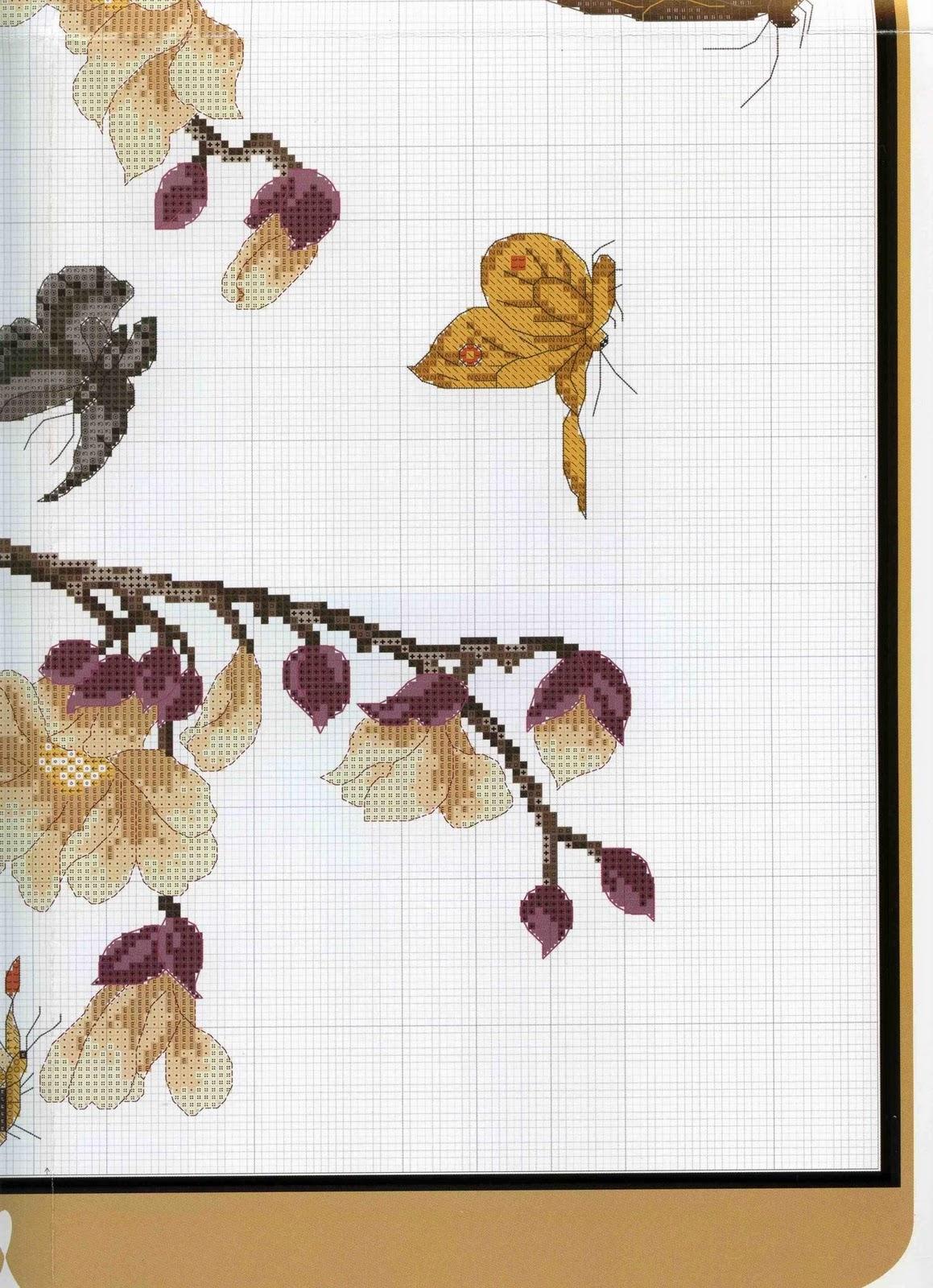 схема для вышивания крестиком сакура