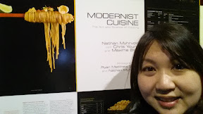 Museum Selfie, checking out the Modernist Cuisine Exhibit at Pacific Science Center