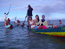 Many of our fellow students / co-workers took some canoes out to enjoy the ocean.
