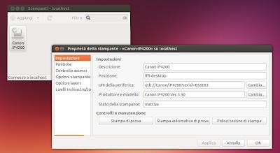 driver per stampanti Canon in Ubuntu 13.10 Saucy