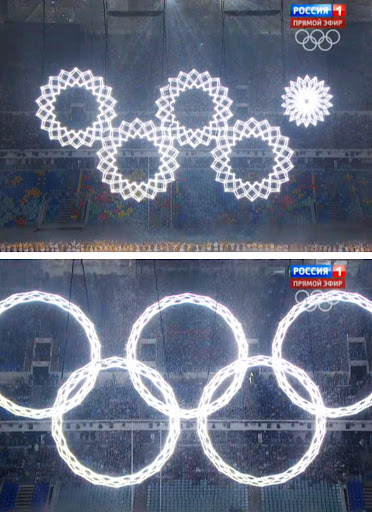 Sochi Olympics ring malfunctioned