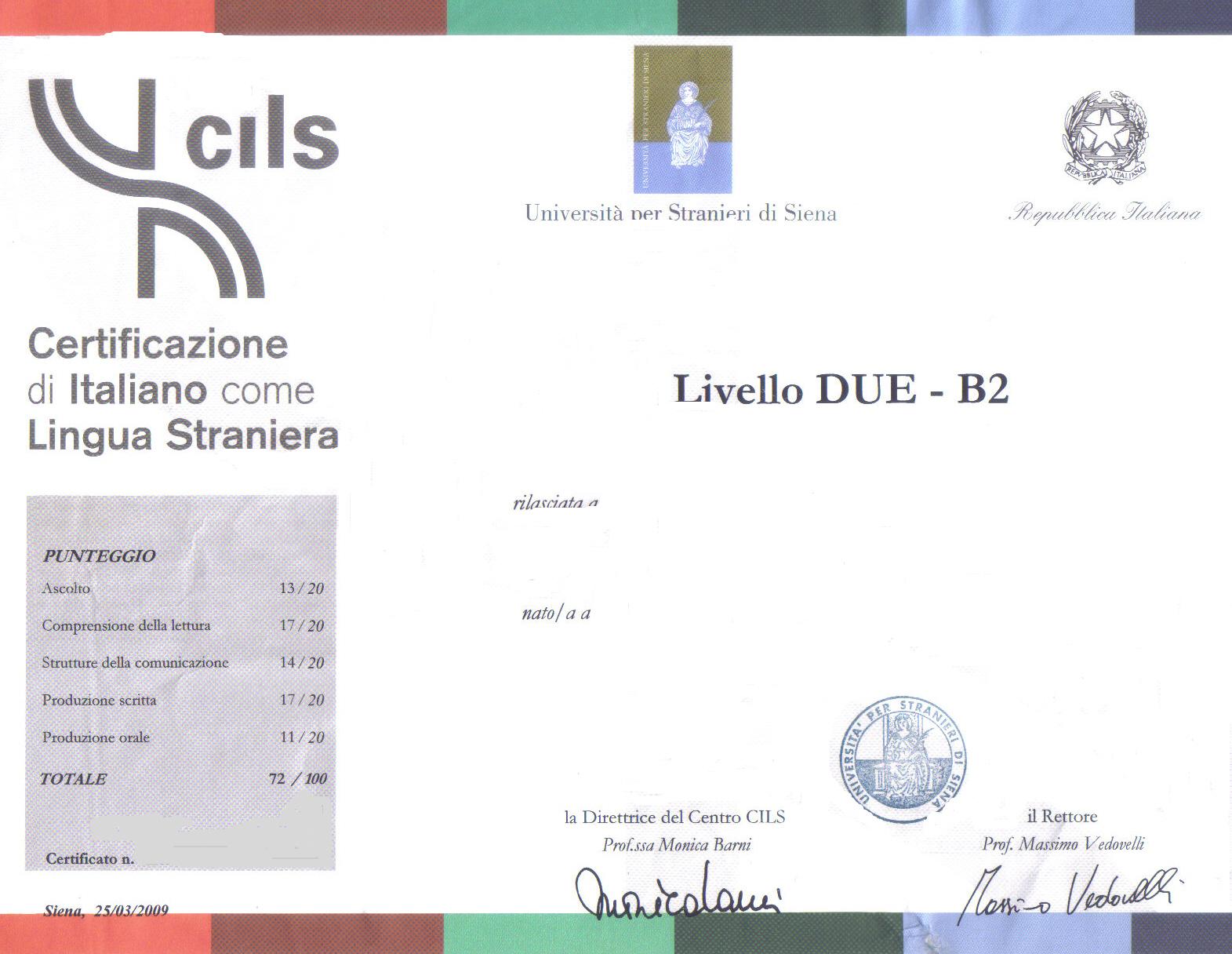 test di lingua italiana A2 | STRAN(ier)OMAVERO