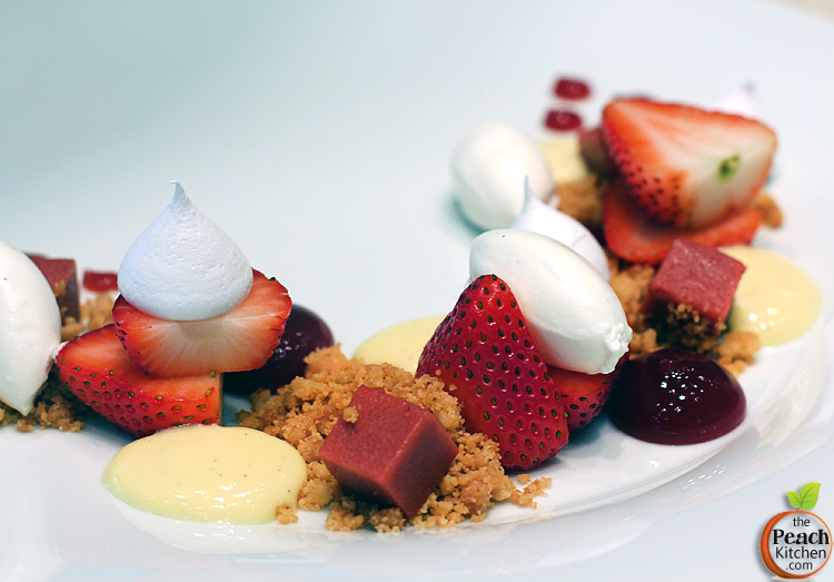 Desserts at Solaire: Strip's Strawberries & Cream