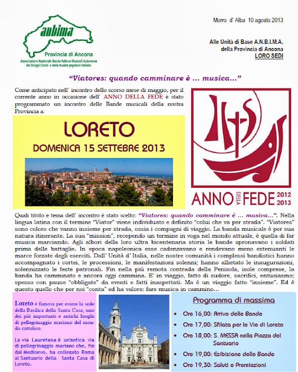 Loreto 15 settembre 2013