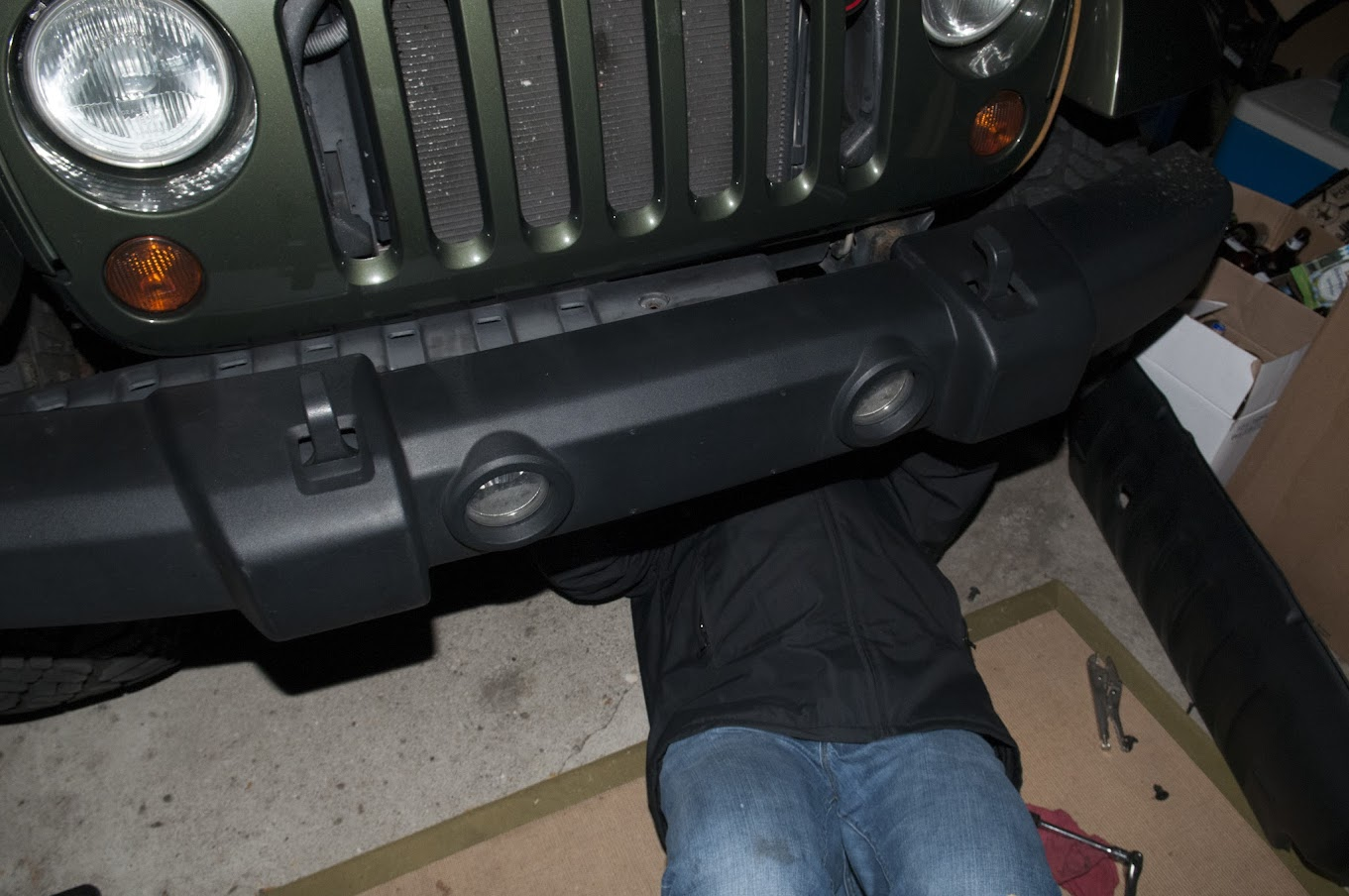 How To Maximus 3 Install Hoop Winch Light Mount Jeep Wrangler Forum Wiring Sometimes Its Easier Get Them From The Top