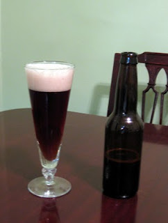 A full glass of Brett Belgian Brown