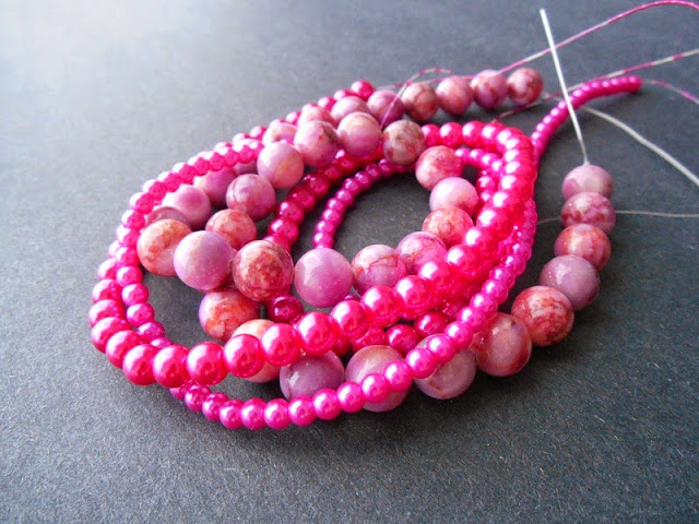 Pink Bead Strand Giveaway
