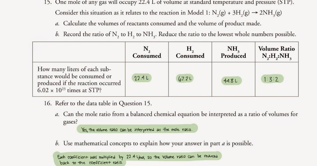 28 Mole Ratio Worksheet Chemistry Answers   Notutahituq ...