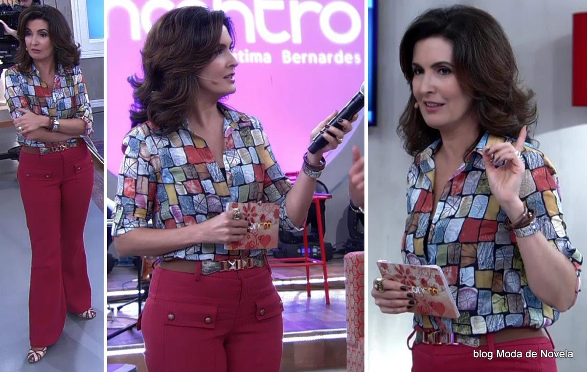 moda do programa Encontro - look da Fátima Bernardes dia 20 de maio