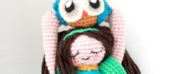 Amigurumi Owl Girl crochet pattern by the sun and the turtle