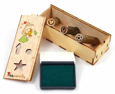 Wood Stamp pad, Wood Stamp box, Stempelkiste