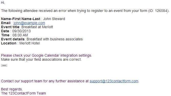 Google Calendar - Event delete