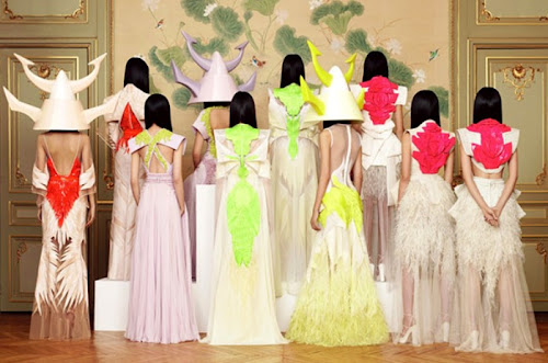 Neon Couture Givenchy Pink Yellow Lime Green