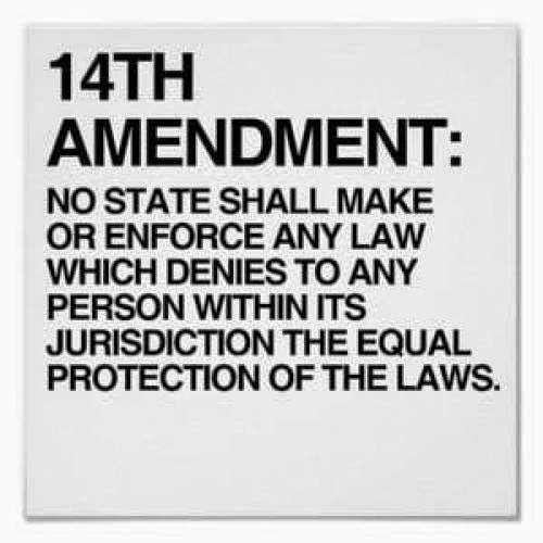 Here We Go With The 14Th Amendment Again