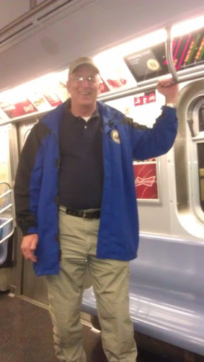 Bill Abernathy on the subway!