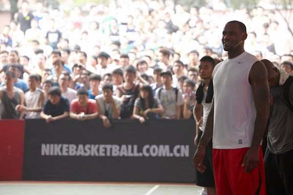 The 2011 LeBron James Basketball Visits Xian and Shanghai