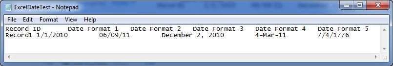 Bekwam Blog: Five Date Formats in Talend Open Studio