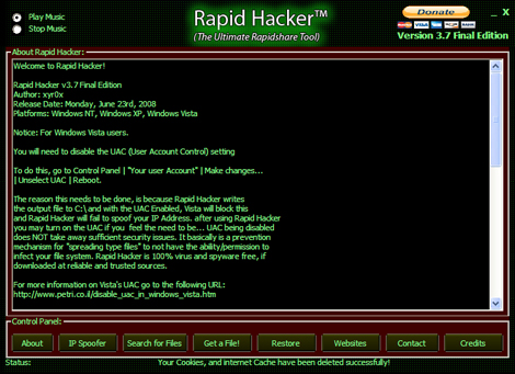 Portable Rapid Hacker v3.7 Final