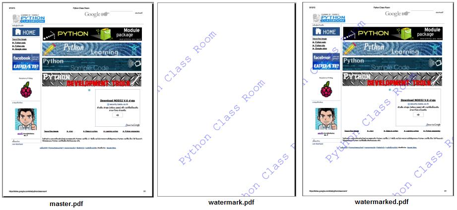 มาทำลายน้ำ (watermark) บนไฟล์ pdf ด้วย pypdf กันเถอะ