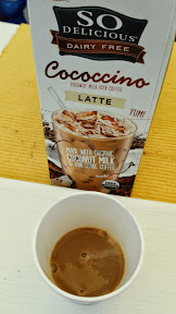So Delicious Dairy Free Cococcino coconut milk iced coffee Latte, made with organic coconut milk and fair trade coffee