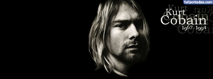 Portada para facebook de Kurt cobain