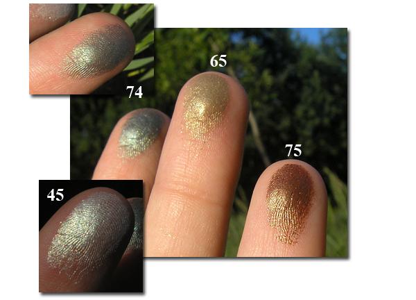 Тени Malva 45, 65, 74, 75 - На пальцах